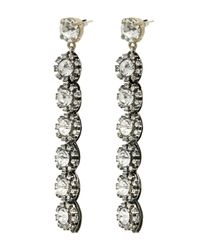 Lulu Frost - Metallic Silver-plated Royale Crystal Line Earrings - Lyst