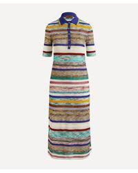 Missoni Multicolor Striped Polo-neck Dress