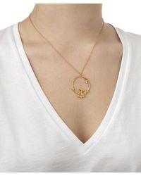 Alex Monroe | Metallic Flowery Bird Loop Necklace | Lyst