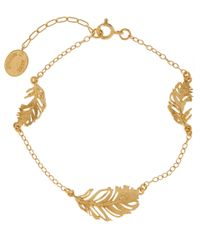Alex Monroe | Metallic Peacock Feather Bracelet | Lyst