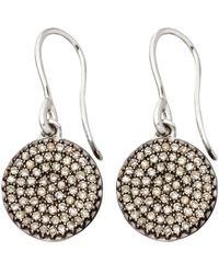 Astley Clarke - Metallic Small White Gold Diamond Cognac Diamond Icon Earrings - Lyst