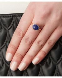 Monica Vinader - Blue Rose Gold-plated Lapis Candy Ring - Lyst