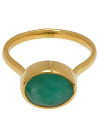 Monica Vinader | Green Gold-plated Emerald Candy Ring | Lyst