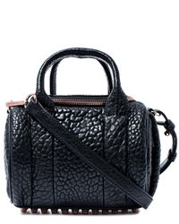 Alexander Wang | Black Mini Rockie Pebbled Leather Bag | Lyst