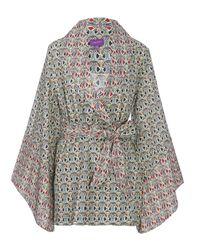 Liberty | Multicolor Mauverina Cotton Kimono | Lyst