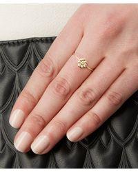 Alex Monroe - Yellow 18ct Gold Diamond Teeny Tiny Daisy Ring - Lyst