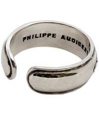 Philippe Audibert - Metallic Logan Feather Adjustable Ring for Men - Lyst