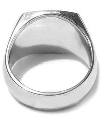 Tom Wood - Silver Green Marble Cushion Ring - Lyst