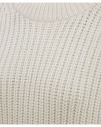 T By Alexander Wang White Oversized Knitted Jumper