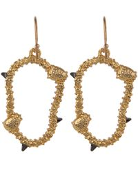 Alexis Bittar - Metallic Gold-tone Irregular Oval Pave Wire Earrings - Lyst