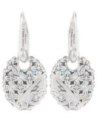 Stephen Dweck   Metallic Silver Oval Blue Topaz Drop Earrings   Lyst