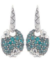Stephen Dweck | Metallic Silver Oval Blue Topaz Drop Earrings | Lyst