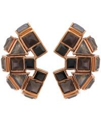 Nak Armstrong - Black Rose Gold Ear Cuff - Lyst