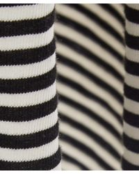 NSF - Black And White Georgia Stripe Jersey Maxi Dress - Lyst