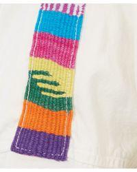 NSF - White Johnna Embroidered Shoulder Shirt - Lyst