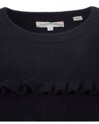 Chinti & Parker - Blue Navy Ruffle Stripe Jumper - Lyst