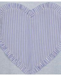 Chinti & Parker - Light Blue Big Heart Front Sweater - Lyst