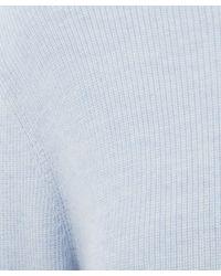 Chinti & Parker - Light Blue Ruffle Back Sweater - Lyst
