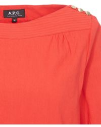 A.P.C. Red Primavera Dress