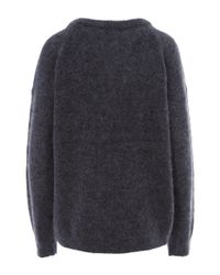 Acne Studios - Blue Navy Dramatic Mohair Classic Jumper - Lyst