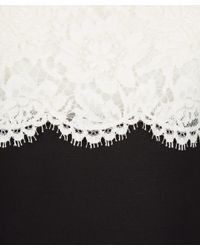 Valentino - White Lace Top Midi Dress - Lyst
