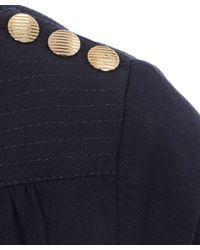 A.P.C. - Blue Navy Long Sleeved Button Shoulder Detail Casablanca Top - Lyst