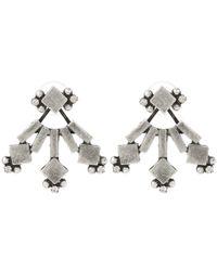 DANNIJO - Metallic Drava Oxidized Silver-plated Swarovski Crystal Earrings - Lyst