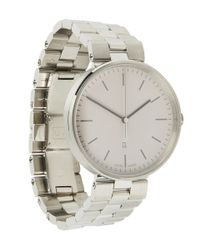 Uniform Wares - Gray M38 Polished Steel Case With Polished And Brushed Bracelet Watch - Lyst