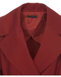 The Row Red Swells Oversized Lapel Wrap Coat