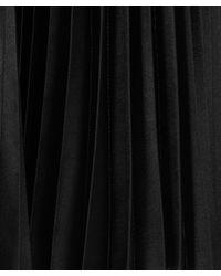 Christopher Kane Black Swarovski Crystal Detailed Pleated Skirt