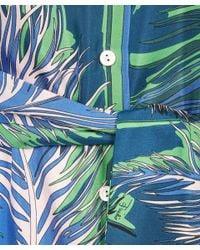 Emilio Pucci   Blue Patterned Dress   Lyst
