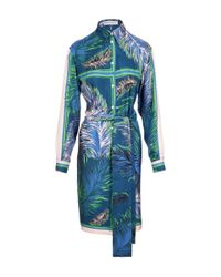 Emilio Pucci | Blue Patterned Dress | Lyst
