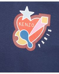 KENZO - Blue Grapic Print T-shirt for Men - Lyst