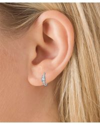 Maria Tash - Medium White Gold 2mm Diamond Princess Ring - Lyst