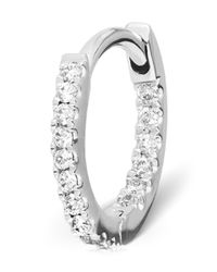 Maria Tash | Medium White Gold Diamond Eternity Ring | Lyst