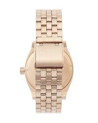 Nixon - Pink Medium Time Teller Watch - Lyst
