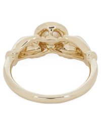 Anissa Kermiche Metallic Gold Hands Pearl And Diamond Ring