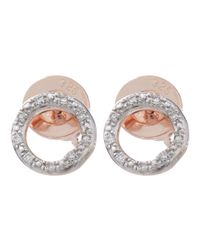Monica Vinader | Metallic Gold-plated Riva Diamond Circle Studs | Lyst