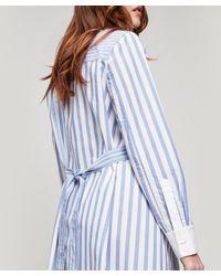 CLU Blue Striped Shirt-dress