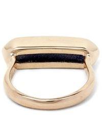 Monica Vinader - Multicolor Vermeil Lapis Lazuli Baja Ring - Lyst