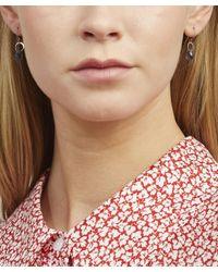 Melissa Joy Manning Metallic Gold Single Iolite Drop Earrings