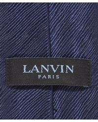 Lanvin - Blue Textured Lines Tie for Men - Lyst
