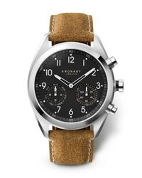 Kronaby - Black Connected A1000-3112 Men's Apex Leather Strap Smartwatch for Men - Lyst