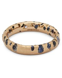 Polly Wales Metallic Rose Gold Blue Ombre Sapphire Confetti Ring