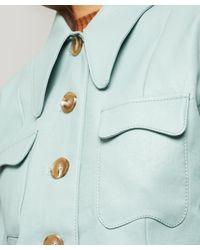 Rejina Pyo Blue Olivia Vegan Leather Jacket