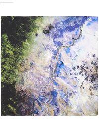 Weston - Purple North America Silk Satin Scarf - Lyst