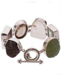 Stephen Dweck - Metallic Sterling Silver Carved Prehnite Multi-stone Bracelet - Lyst