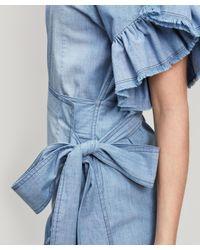 Étoile Isabel Marant Blue Lelicia Ruffle Dress