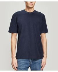Sunspel Blue Terry Short-sleeve T-shirt for men