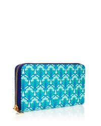 Liberty - Blue Zip-around Wallet In Iphis Canvas - Lyst